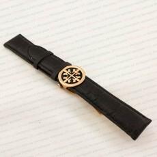 Ремешок Patek Philippe кожаный чёрный 20 мм