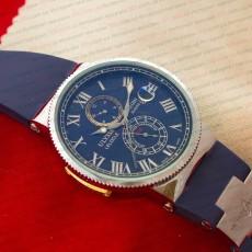 Механические часы Ulysse Nardin Maxi Marine silver blue