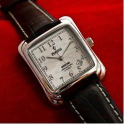 Механические часы Рекорд silver white (1162)