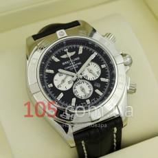 Часы Breitling Chronometre silver black