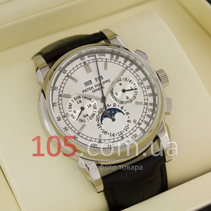 Купить Patek Philippe Geneve Perpetual Calendar silver white (02330 ... 6f55a2520c9
