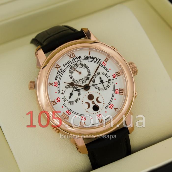 Механические часы Patek Philippe Sky Moon gold white (02334-1-5)