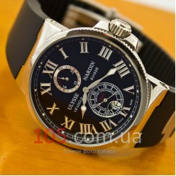 Часы Ulysse Nardin Maxi Marine silver black (3111)